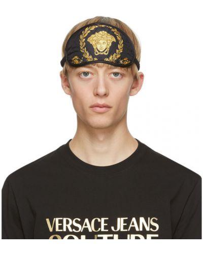 С ремешком шелковая маска для кожи вокруг глаз золотая Versace