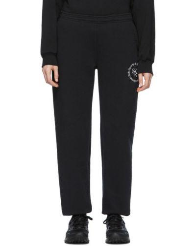 Sportowe spodnie z kieszeniami czarne Sporty And Rich