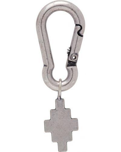 Серебряные серьги на крючках Marcelo Burlon County Of Milan