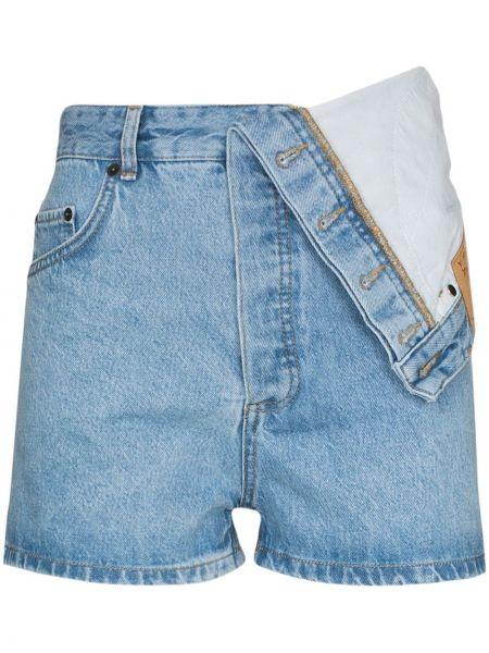 Синие хлопковые шорты с карманами Y/project