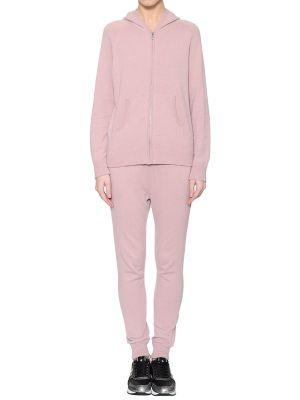Костюмный шерстяной розовый спортивный костюм Morgano