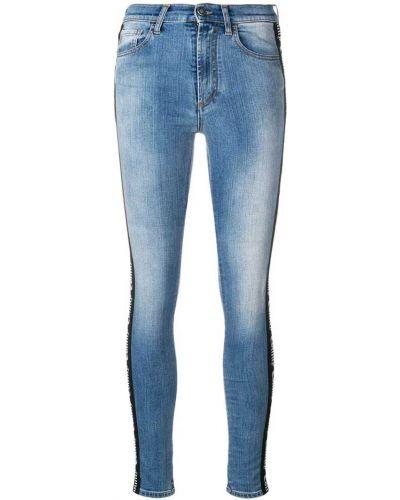 Облегающие зауженные джинсы - синие Marcelo Burlon. County Of Milan
