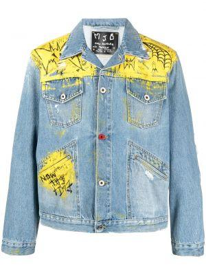 Klasyczne niebieskie jeansy skorzane Mjb Marc Jacques Burton