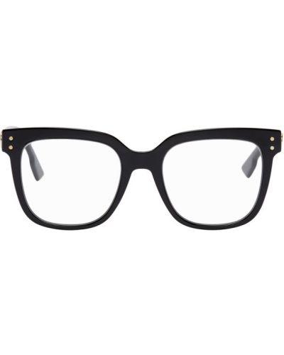 Черные очки для зрения квадратные металлические Dior