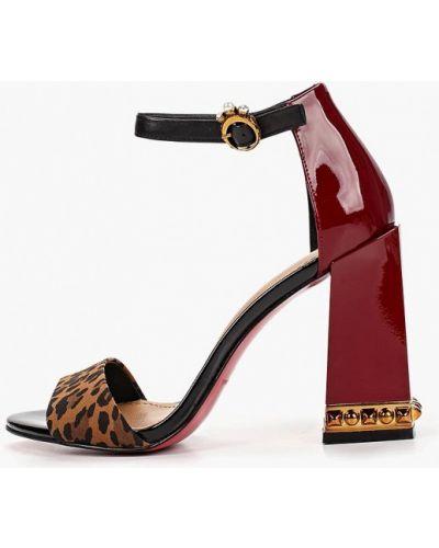 Босоножки на каблуке кожаные Paolo Conte
