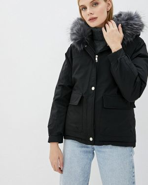 Черная утепленная куртка Fresh Cotton