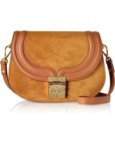 Brązowa torba na ramię Mcm