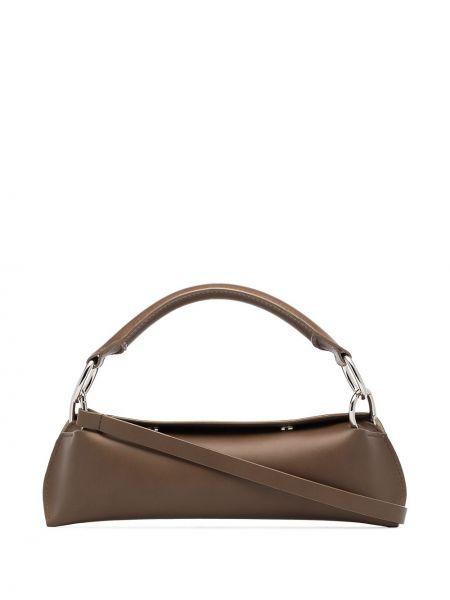 Кожаная коричневая сумка на плечо Venczel