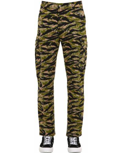 Spodnie bawełniane z paskiem ciążowe Oakley Tnp