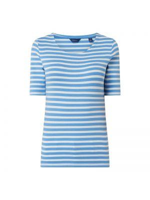 Niebieski t-shirt w paski bawełniany Gant