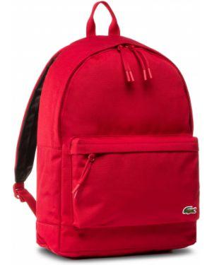 Czerwony plecak Lacoste