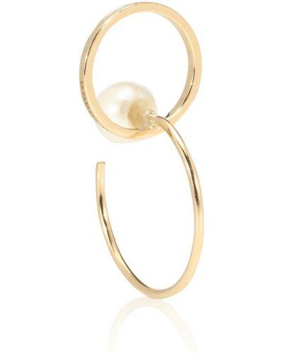 Серьги-кольца с жемчугом золотые Delfina Delettrez