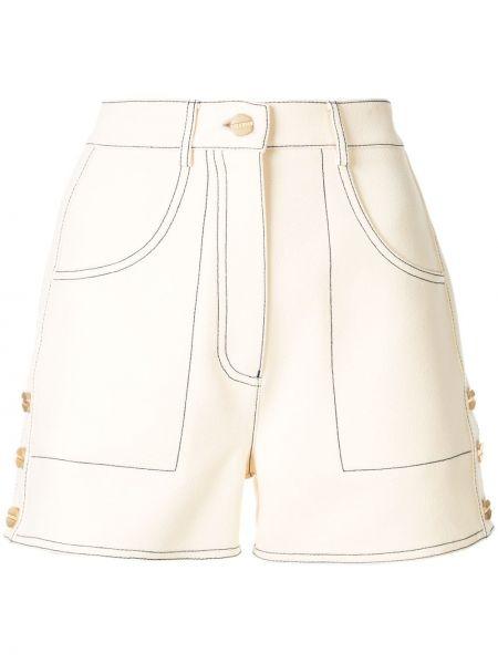 Белые шорты с карманами на пуговицах Dion Lee