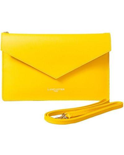 Żółta kopertówka skórzana miejska Lancaster