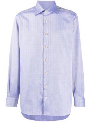 Koszula z długim rękawem prosto długa Kiton