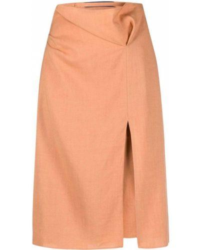 Шерстяная юбка - оранжевая Jacquemus