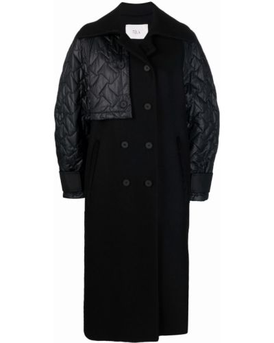 Шерстяное пальто - черное Tela