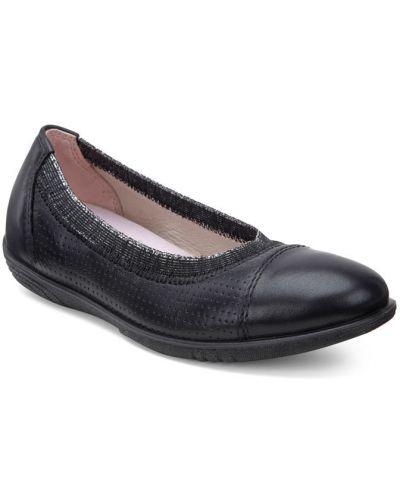 Балетки кожаные черные Ecco