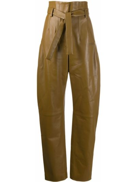 Bawełna spodni spodnie z kieszeniami z wiskozy Off-white