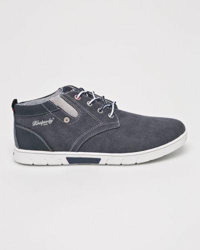 Текстильные кроссовки - синие American Club