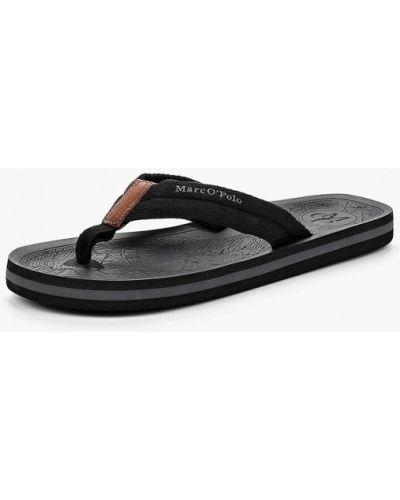 Черные сандалии кожаные Marc O'polo