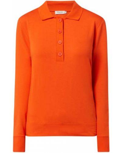 Pomarańczowy t-shirt z długimi rękawami z wiskozy Maerz Muenchen