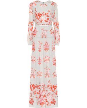 Вечернее платье с цветочным принтом шелковое Giambattista Valli