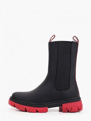 Черные зимние полусапожки Ideal Shoes®