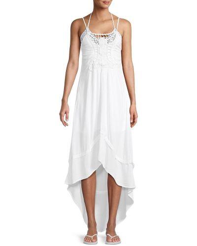 С ремешком белое платье макси на бретелях Tiare Hawaii