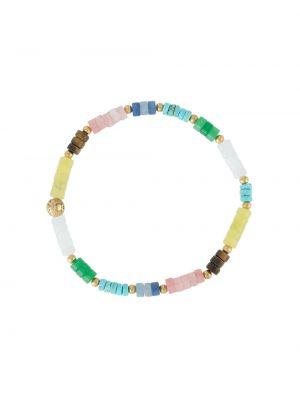 Złota bransoletka z koralikami - żółta Nialaya Jewelry