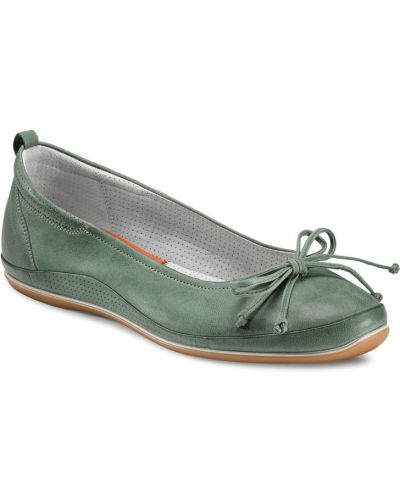 Балетки зеленый на каблуке Ecco