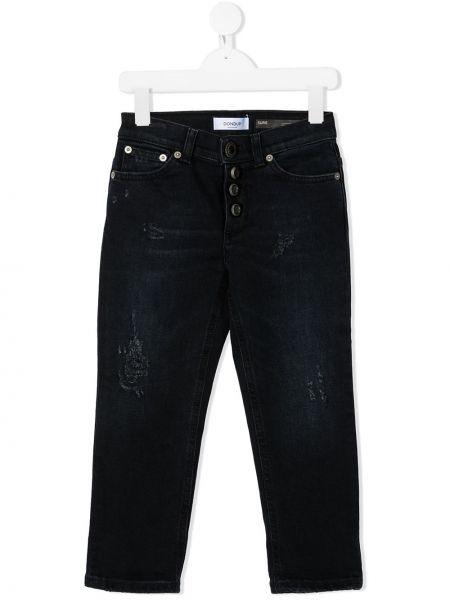 Классические прямые синие прямые джинсы стрейч Dondup Kids