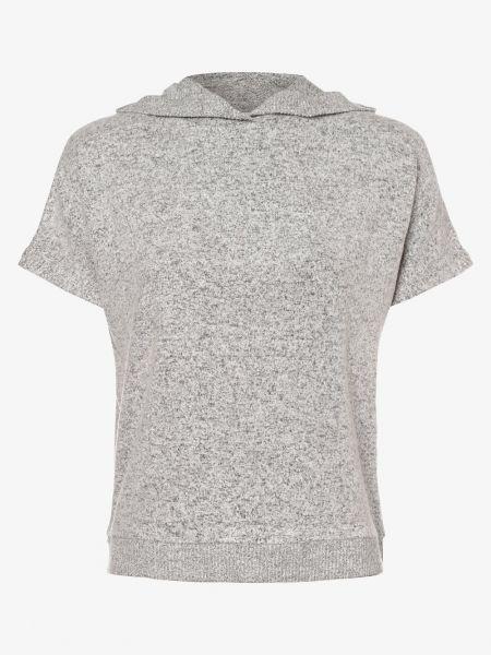 Szary t-shirt z kapturem Opus