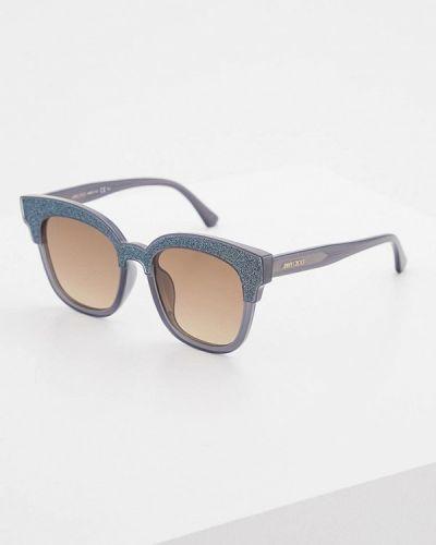 Серые солнцезащитные очки Jimmy Choo