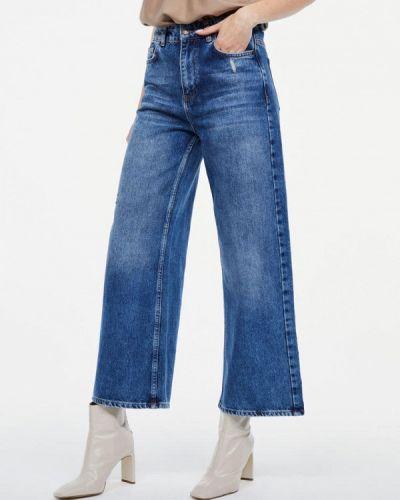 Широкие джинсы расклешенные синие Lime