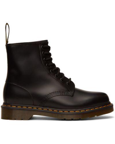 Кожаные черные ботинки на каблуке Dr. Martens