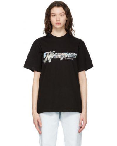 Czarny t-shirt bawełniany krótki rękaw Noon Goons