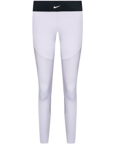 Fioletowe legginsy Nike
