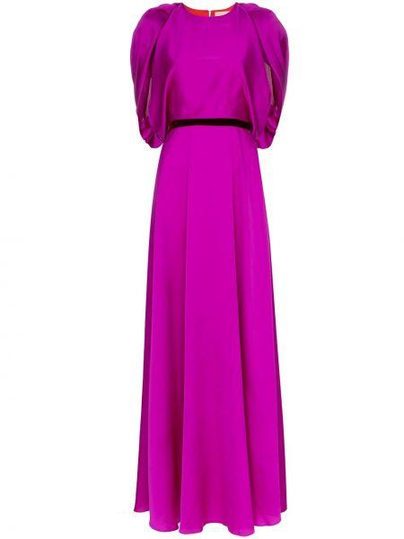 Вечернее платье с поясом с драпировкой Roksanda