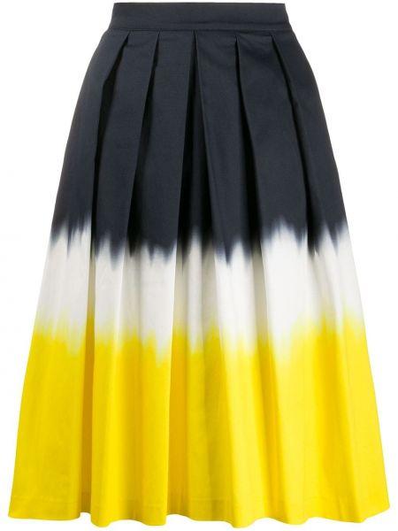 Czarna spódnica midi z wysokim stanem bawełniana Ultrachic