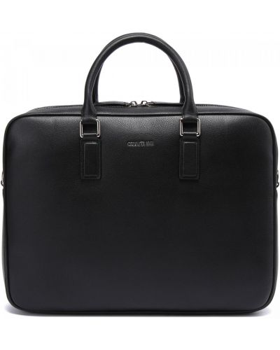 Кожаная сумка - черная Cerruti 1881