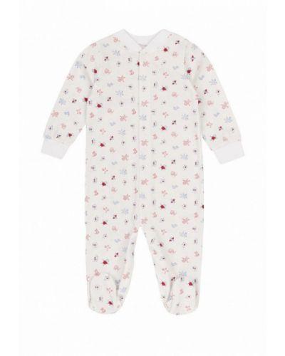 Комбинезон текстильный белый фламинго текстиль