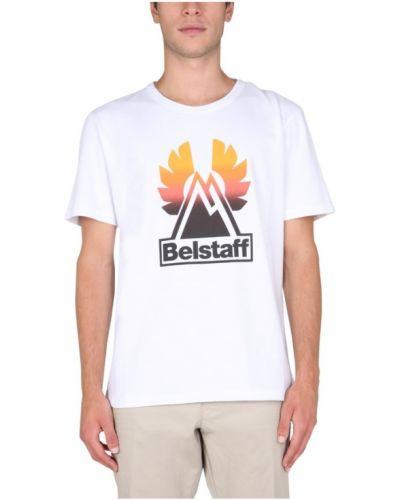 Biała t-shirt Belstaff