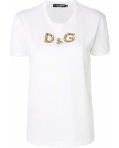 Футболка с логотипом хлопковая Dolce & Gabbana
