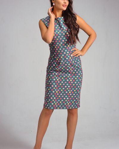 Платье в горошек футляр со шлицей Lacywear