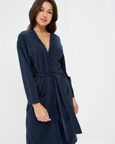 Синий домашний халат Nymos