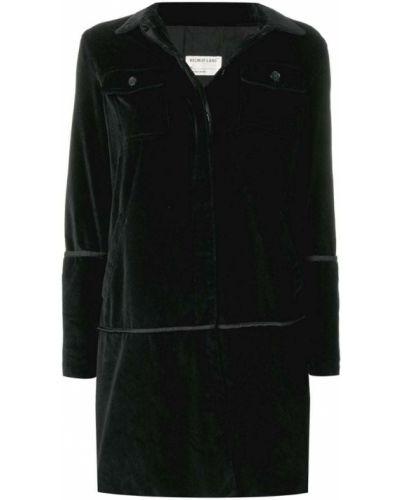 Черное пальто классическое с капюшоном с воротником Helmut Lang Pre-owned