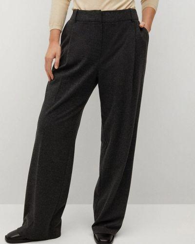 Повседневные серые брюки Violeta By Mango