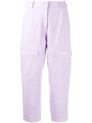 Фиолетовые свободные прямые джинсы с карманами на пуговицах Stella Mccartney