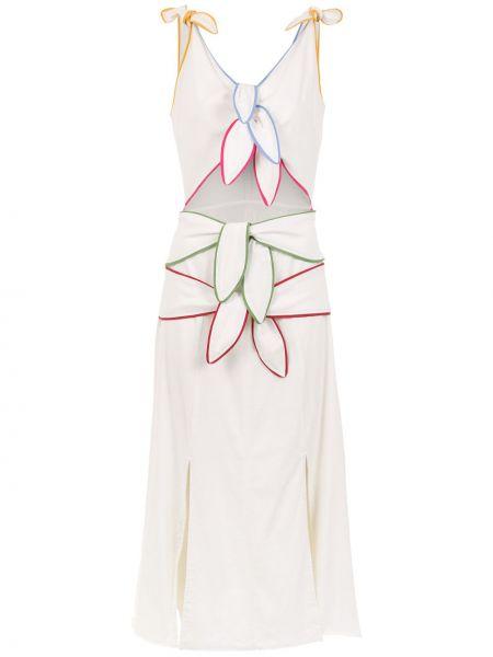 Платье миди на шнуровке с V-образным вырезом Framed